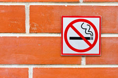 Palenie zabronione znak Obraz Royalty Free