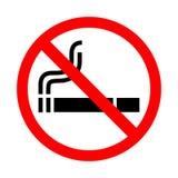 Palenie zabronione znak na białym tle Fotografia Stock