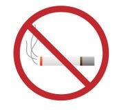 Palenie Zabronione znak z zabronionym terenem, Oparzenie papierosu ikona ilustracji
