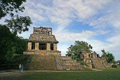 palenque视图 免版税库存照片