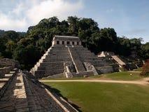 palenque金字塔 库存照片