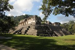 Palenque ancient Maya site, Mexico. Palenque, also anciently known as Lakamha, was a Maya city state in southern Mexico that flourished in the 7th century. The royalty free stock photography
