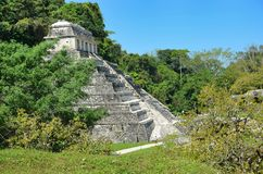 Palenque Ancient Mayan temples Royalty Free Stock Photos