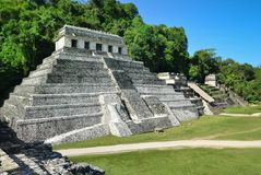 Palenque Ancient Mayan temples Stock Image