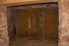 Palenque, Chiapas, México Relevo cinzelado maia antigo com em ruínas do templo imagem de stock royalty free