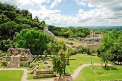 Palenque, Gruppenkreuze Lizenzfreies Stockbild