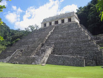 Palenque - Maya de Tempel van Pakal van de Koning van Inschrijvingen stock foto's