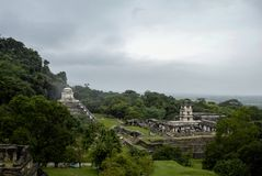 Palenque Mayan Ruins in Chiapas Mexico stock image
