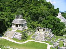 Palenque Mayan Ruins Maya Chiapas Mexico Royalty Free Stock Photos