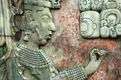 PALENQUE, MEXICO, 15 DECEMBER, 2015: Mayan mensenbeeld en Mayan w Royalty-vrije Stock Foto's