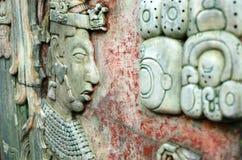 PALENQUE, MEXICO, 15 DECEMBER, 2015: Mayan mensenbeeld en Mayan w Stock Foto