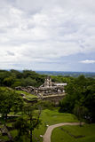 Palenque, Mexico. Panorama of the Mayan ruins of Palenque, Chiapas, Mexico Stock Photo