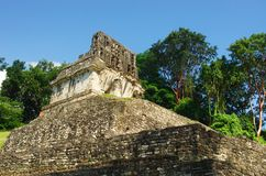 Palenque, Mexico. Ruins of the ancient Mayan city in Palenque, Chiapas, Mexico Stock Images