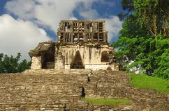 Palenque, Mexico. Ruins of the ancient Mayan city in Palenque, Chiapas, Mexico Stock Photo
