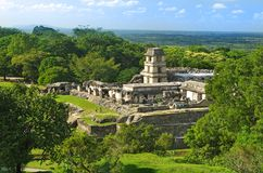 Palenque, Mexico. Ruins of the ancient Mayan city in Palenque, Chiapas, Mexico Stock Image