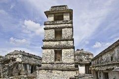 Palenque - osservatorio Fotografia Stock Libera da Diritti