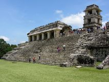 Palenque Palace in Chiapas Stock Photo