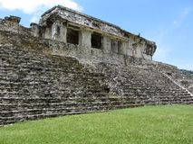 Palenque Palace in Chiapas Mexico Royalty Free Stock Photography