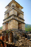 Palenque Palace Four-Story Tower, Mexico Royalty Free Stock Photos