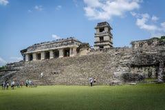 Palenque, Maya city in southern Mexico, Chiapas, Mexico. Palenque, The Palace, ruins of Maya city in southern Mexico, Chiapas, Mexico stock images