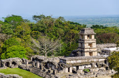 Palenque Palace Royalty Free Stock Photo