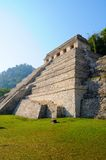 Palenque Pyramid, Mexico. The Temple of Inscriptions with tomb of Pakal inside. Palenque, Maya city ruins, Mexico Royalty Free Stock Photo