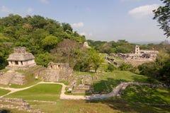 Palenque ruins maya archiological mexico. History city chiapas national park royalty free stock photo