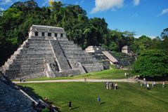 Palenque runis w Meksyk Obrazy Royalty Free