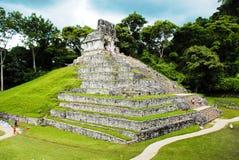 Palenque, Tempel van het Kruis Stock Fotografie