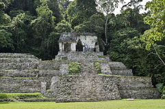 Palenque - temple calavera. Maya ruin-site palenque, chiapas, mexico, temple named calavera, this means temple of the skull Royalty Free Stock Image