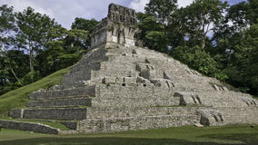 Palenque - temple de la cruz. Mayan ruin-site of palenque, chiapas, mexico - the temple de la cruz is the most important temple of the cross-group - palenque is Royalty Free Stock Images