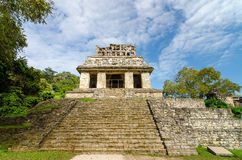 Palenque Temple Steps Royalty Free Stock Images