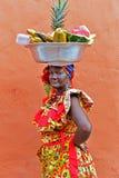 Palenquera果子卖主 库存图片