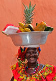 Palenquera果子卖主 免版税库存图片