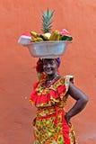 Palenquera果子卖主 免版税库存照片