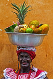 Palenquera fruit seller Stock Photography