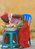 Palenquera fruit seller Royalty Free Stock Photo