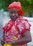 Palenquera fruit seller Royalty Free Stock Images