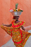 Palenquera Fruit Seller Stock Images