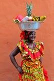 Palenquera fruit seller Stock Photos