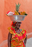 Palenquera fruit seller Stock Photo