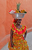 Palenquera fruktsäljare Arkivbilder