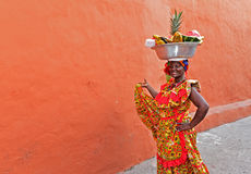 Palenquera fruktsäljare Royaltyfri Fotografi