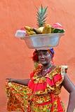 Palenquera owoc sprzedawca Obrazy Royalty Free