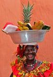 Palenquera owoc sprzedawca Obraz Royalty Free