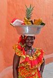 Palenquera owoc sprzedawca Zdjęcie Stock