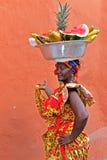 Palenquera owoc sprzedawca Zdjęcie Royalty Free