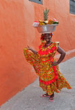 Palenquera owoc sprzedawca Fotografia Royalty Free