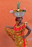 Palenquera owoc sprzedawca Zdjęcia Stock