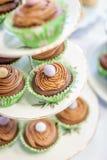 Paleo复活节杯形蛋糕 库存图片